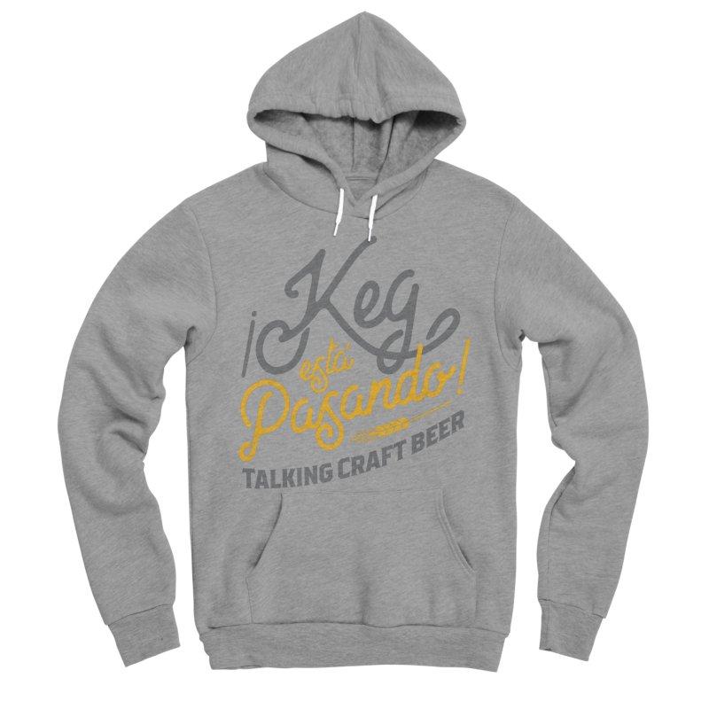 Kept Tagline (Grey) Men's Sponge Fleece Pullover Hoody by Talking Craft Beer Shop