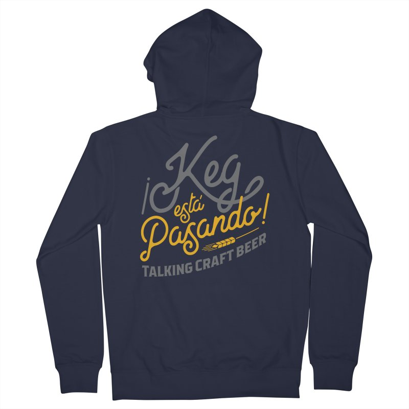 Kept Tagline (Grey) Women's French Terry Zip-Up Hoody by Talking Craft Beer Shop