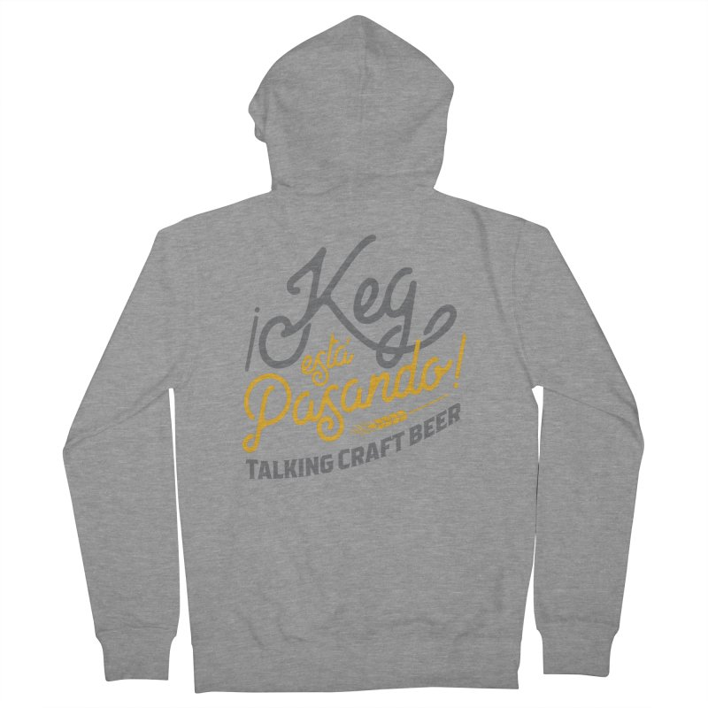 Kept Tagline (Grey) Men's French Terry Zip-Up Hoody by Talking Craft Beer Shop