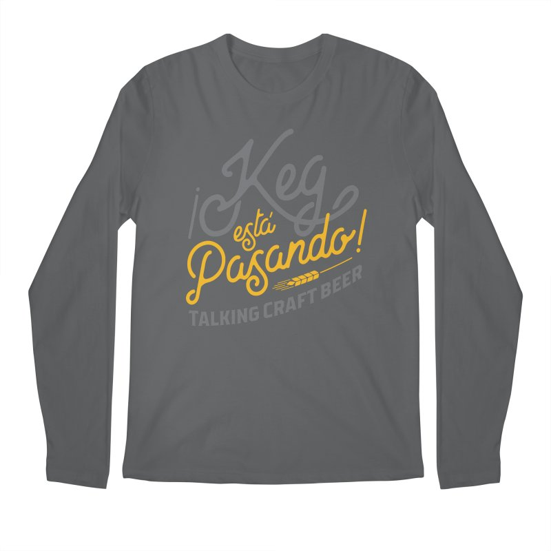 Kept Tagline (Grey) Men's Regular Longsleeve T-Shirt by Talking Craft Beer Shop