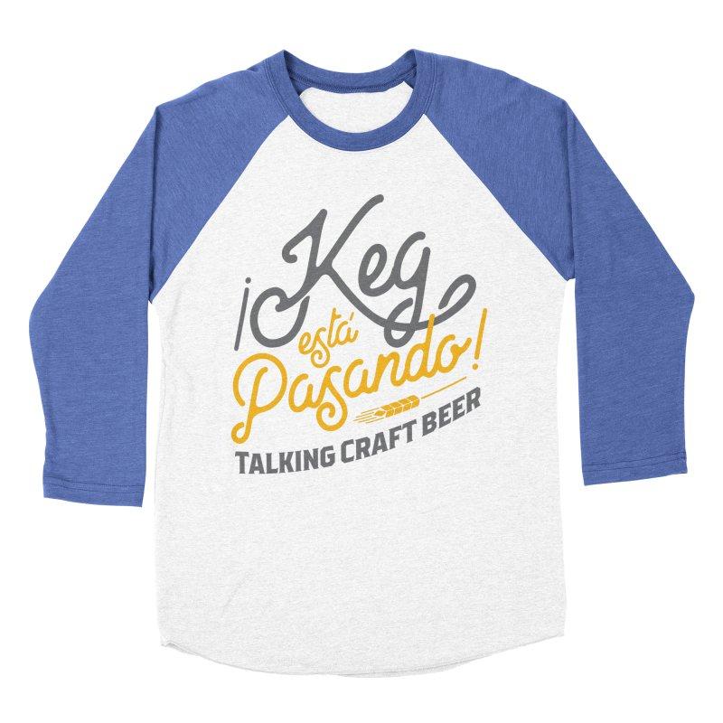 Kept Tagline (Grey) Men's Baseball Triblend Longsleeve T-Shirt by Talking Craft Beer Shop