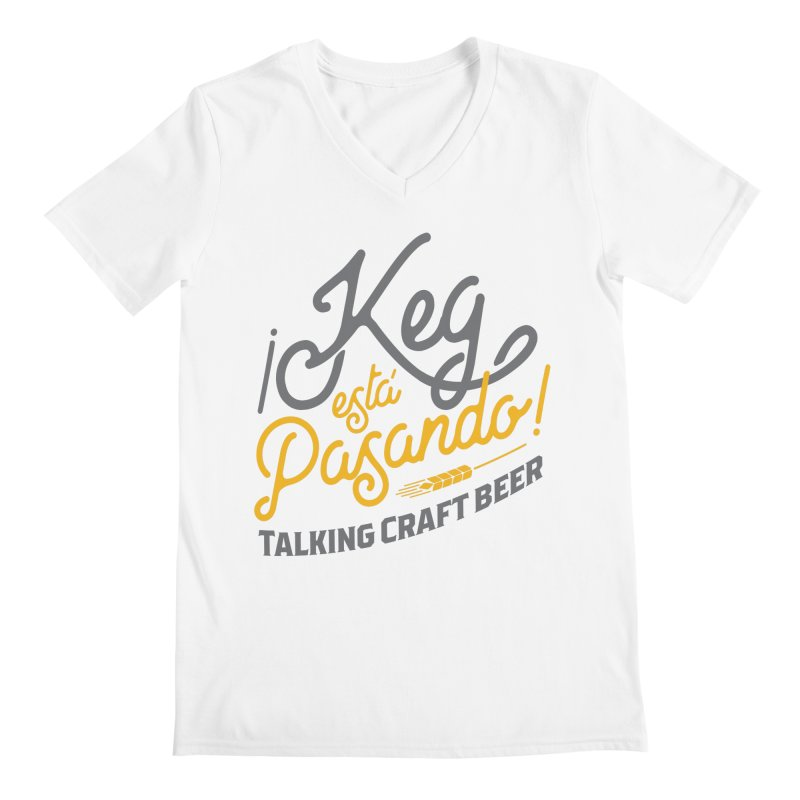 Kept Tagline (Grey) Men's Regular V-Neck by Talking Craft Beer Shop