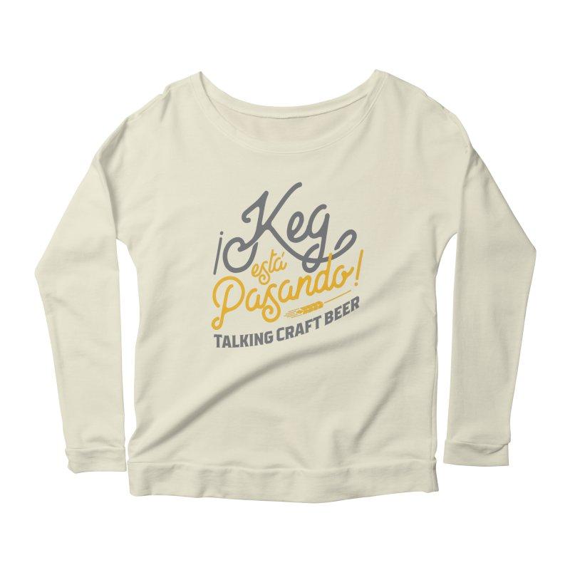 Kept Tagline (Grey) Women's Scoop Neck Longsleeve T-Shirt by Talking Craft Beer Shop