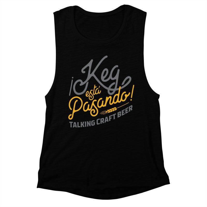 Kept Tagline (Grey) Women's Muscle Tank by Talking Craft Beer Shop