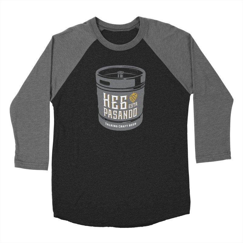 Kept keg Tagline Women's Baseball Triblend Longsleeve T-Shirt by Talking Craft Beer Shop