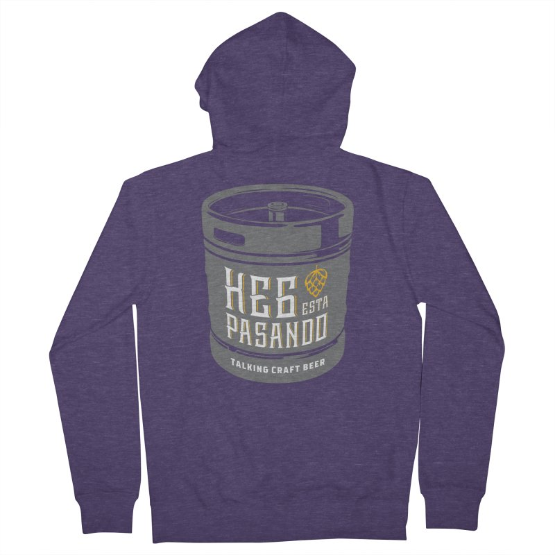 Kept keg Tagline Men's French Terry Zip-Up Hoody by Talking Craft Beer Shop