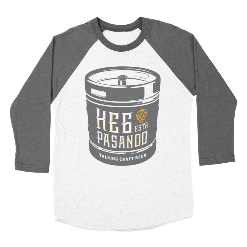 Kept keg Tagline Women's Baseball Triblend Longsleeve T-Shirt by Talking Craft Beer Shop