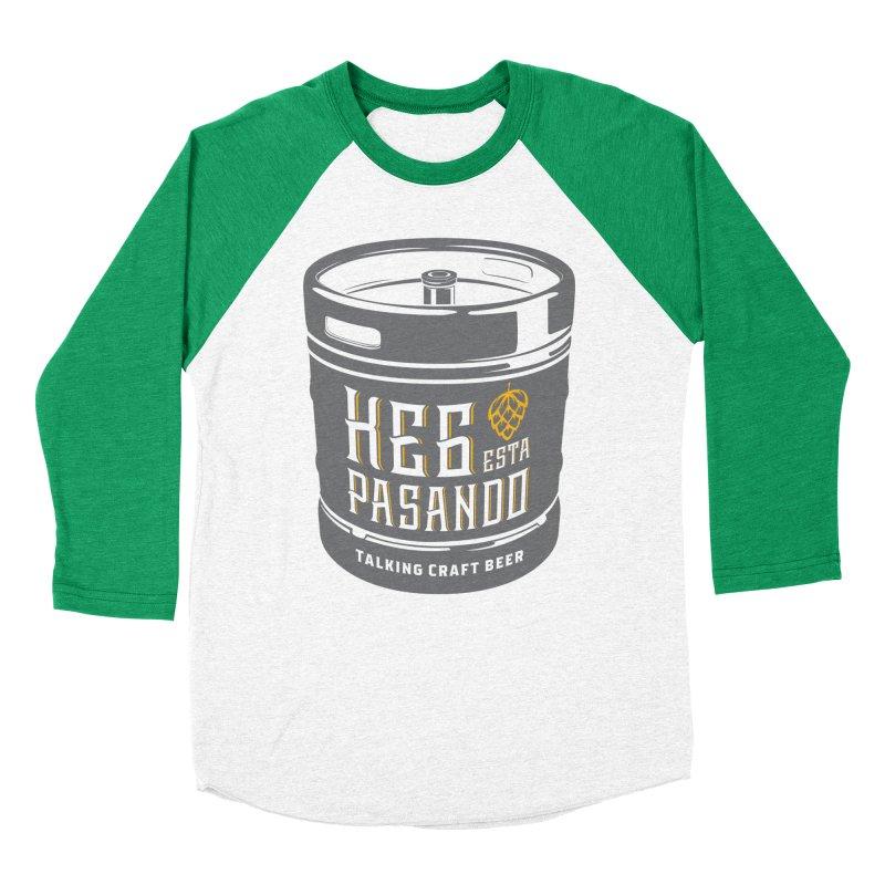 Kept keg Tagline Men's Baseball Triblend Longsleeve T-Shirt by Talking Craft Beer Shop