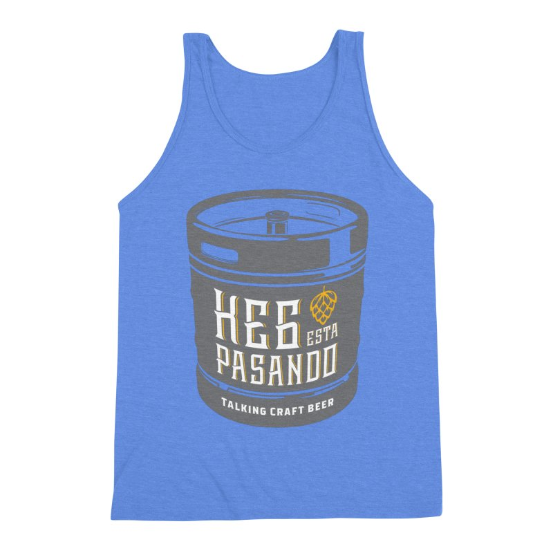 Kept keg Tagline Men's Triblend Tank by Talking Craft Beer Shop