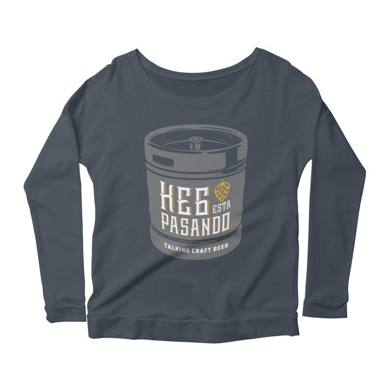 Kept keg Tagline Women's Scoop Neck Longsleeve T-Shirt by Talking Craft Beer Shop
