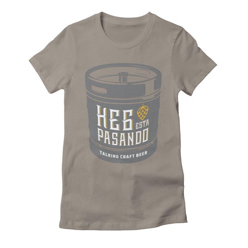 Kept keg Tagline Women's Fitted T-Shirt by Talking Craft Beer Shop