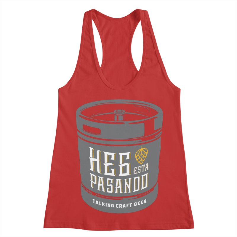 Kept keg Tagline Women's Racerback Tank by Talking Craft Beer Shop