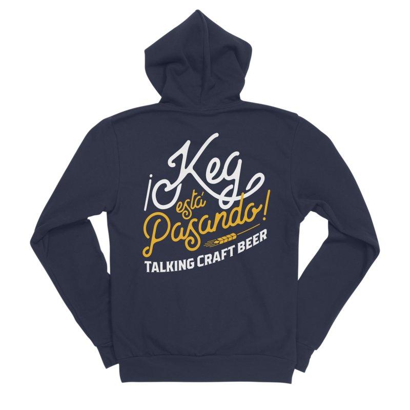 Kept Tagline (White) Men's Sponge Fleece Zip-Up Hoody by Talking Craft Beer Shop