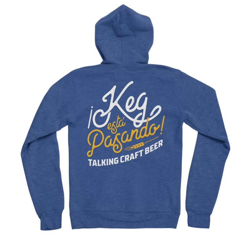 Kept Tagline (White) Men's Sponge Fleece Zip-Up Hoody by Talking Craft Beer Shop