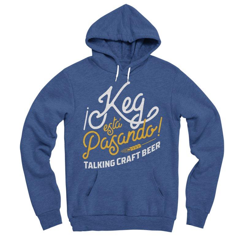 Kept Tagline (White) Men's Sponge Fleece Pullover Hoody by Talking Craft Beer Shop