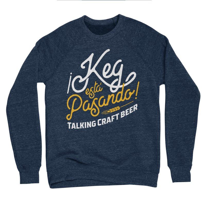 Kept Tagline (White) Men's Sponge Fleece Sweatshirt by Talking Craft Beer Shop