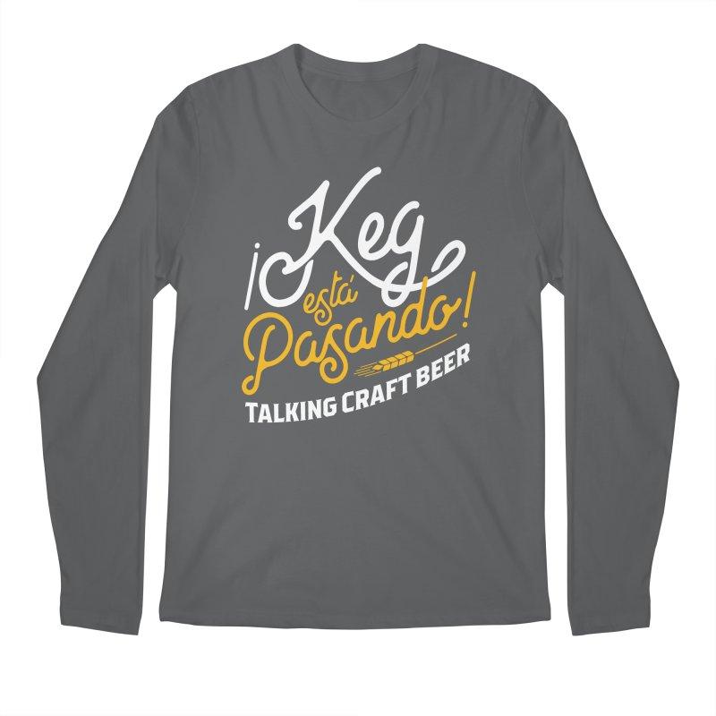 Kept Tagline (White) Men's Longsleeve T-Shirt by Talking Craft Beer Shop
