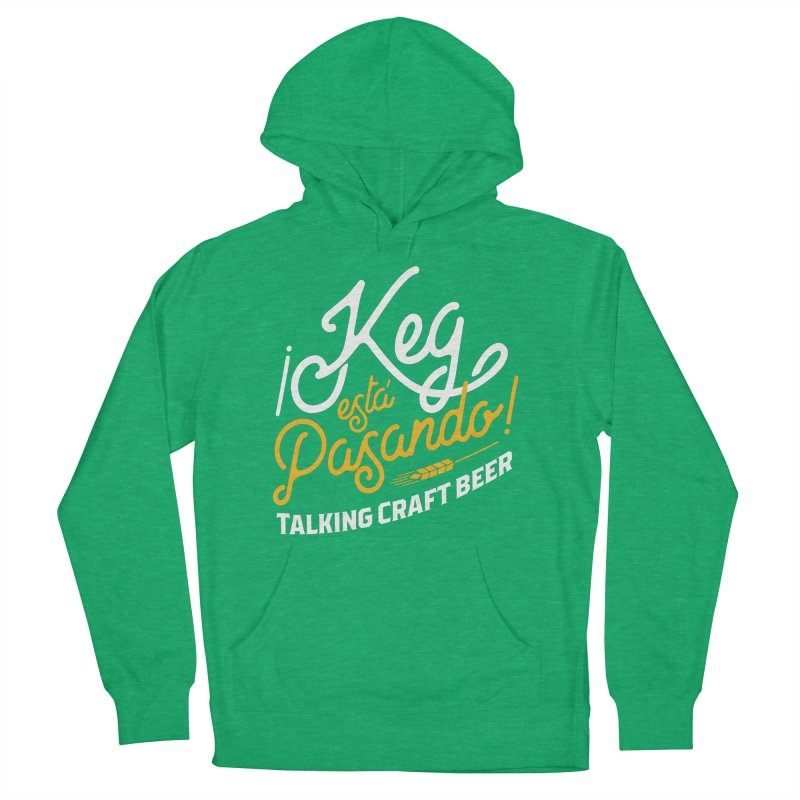 Kept Tagline (White) Women's French Terry Pullover Hoody by Talking Craft Beer Shop