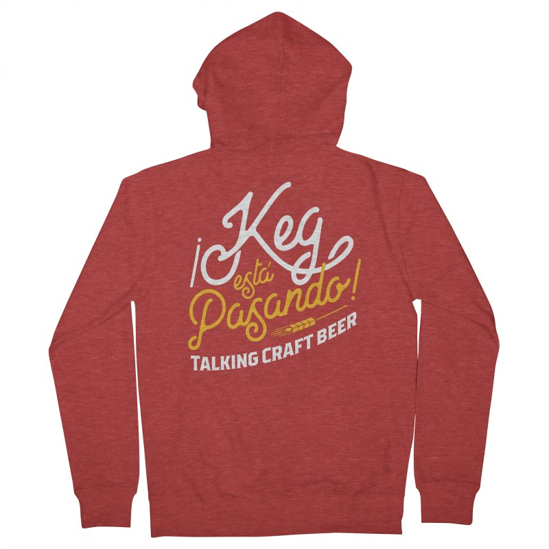 Kept Tagline (White) Men's French Terry Zip-Up Hoody by Talking Craft Beer Shop