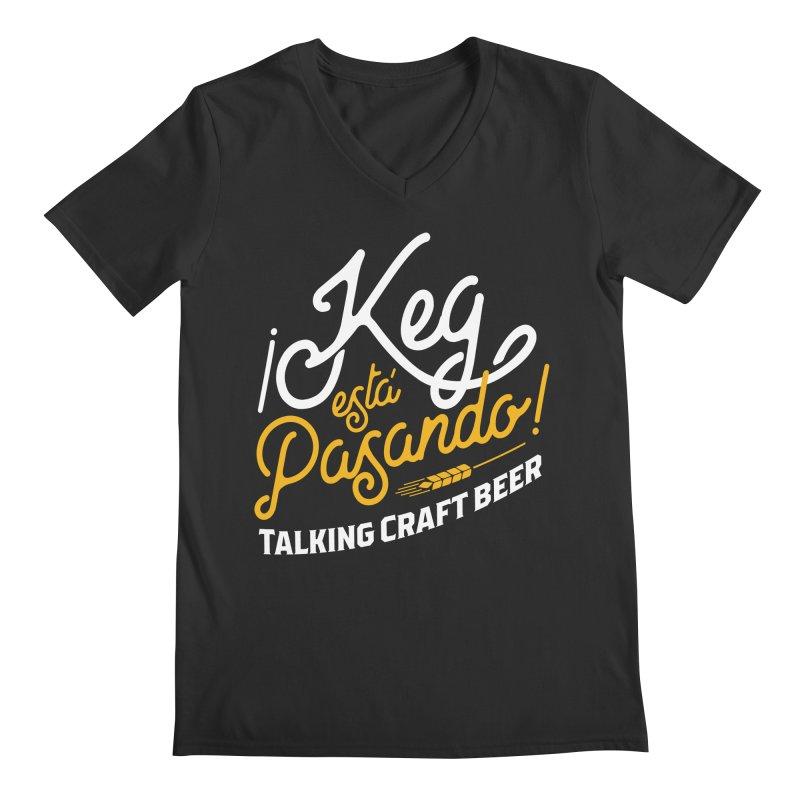 Kept Tagline (White) Men's Regular V-Neck by Talking Craft Beer Shop