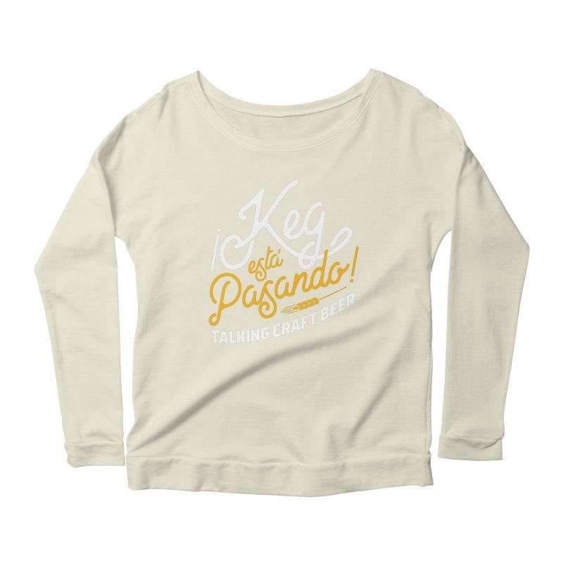 Kept Tagline (White) Women's Scoop Neck Longsleeve T-Shirt by Talking Craft Beer Shop