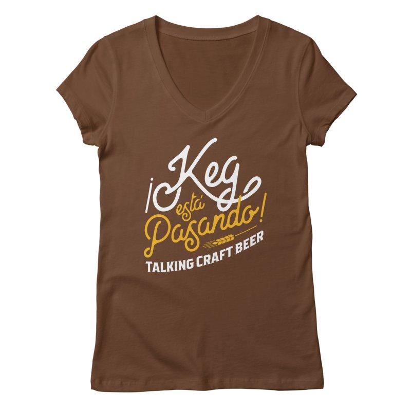 Kept Tagline (White) Women's Regular V-Neck by Talking Craft Beer Shop