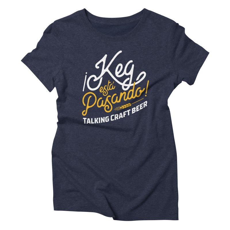 Kept Tagline (White) Women's Triblend T-Shirt by Talking Craft Beer Shop
