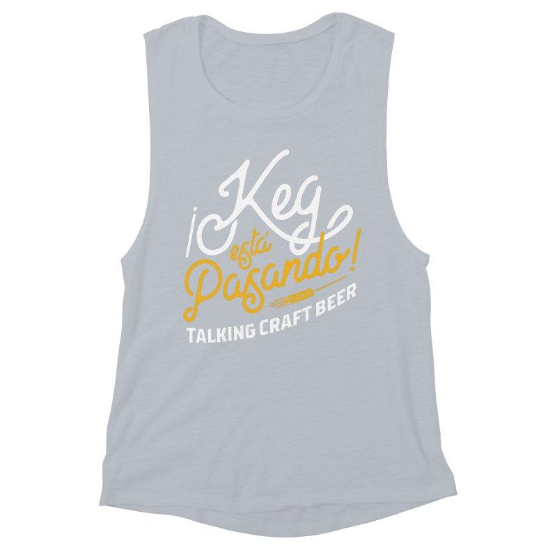 Kept Tagline (White) Women's Muscle Tank by Talking Craft Beer Shop