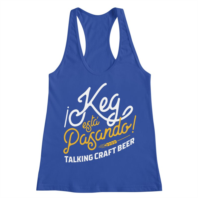 Kept Tagline (White) Women's Racerback Tank by Talking Craft Beer Shop