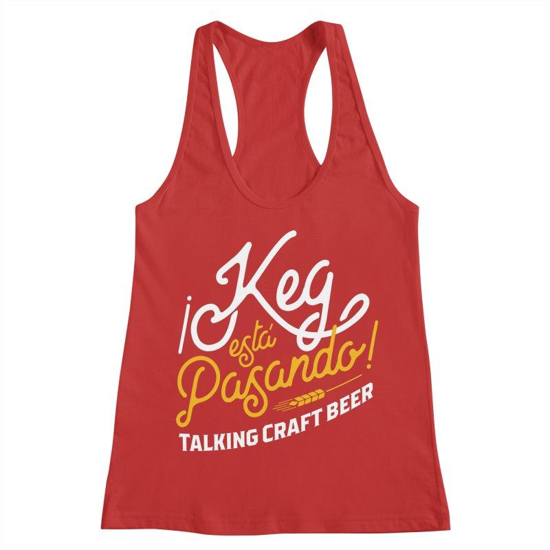 Kept Tagline (White) Women's Racerback Tank by Talking Craft Beer Shop