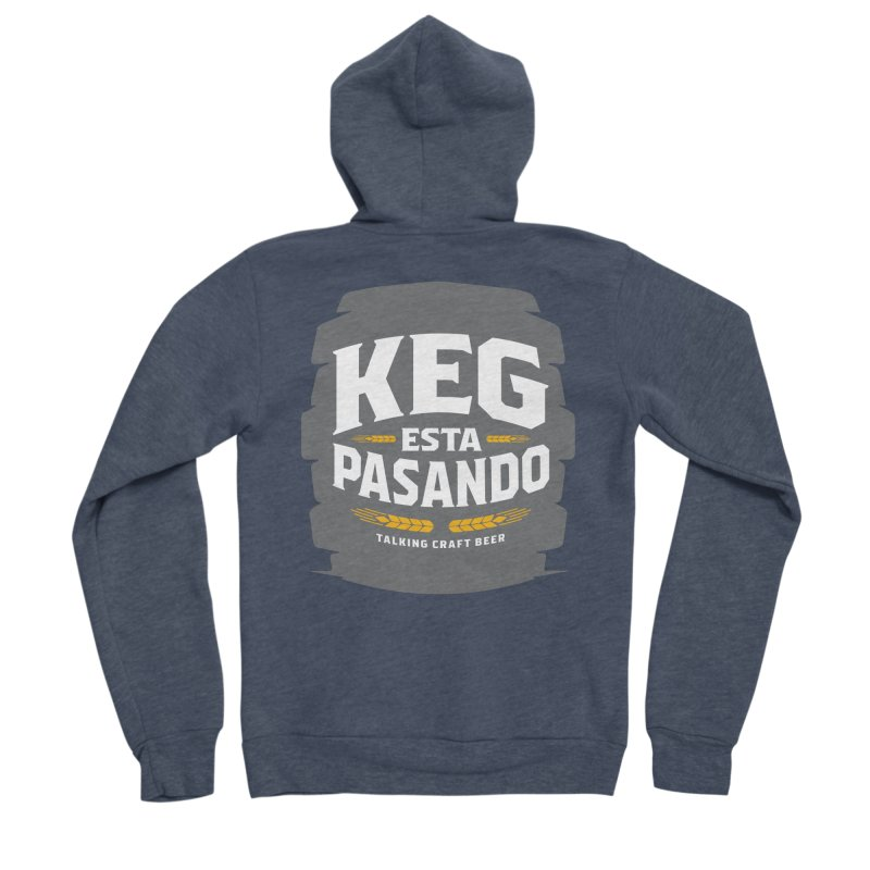 Kept Big Keg (W/O hop) Men's Sponge Fleece Zip-Up Hoody by Talking Craft Beer Shop