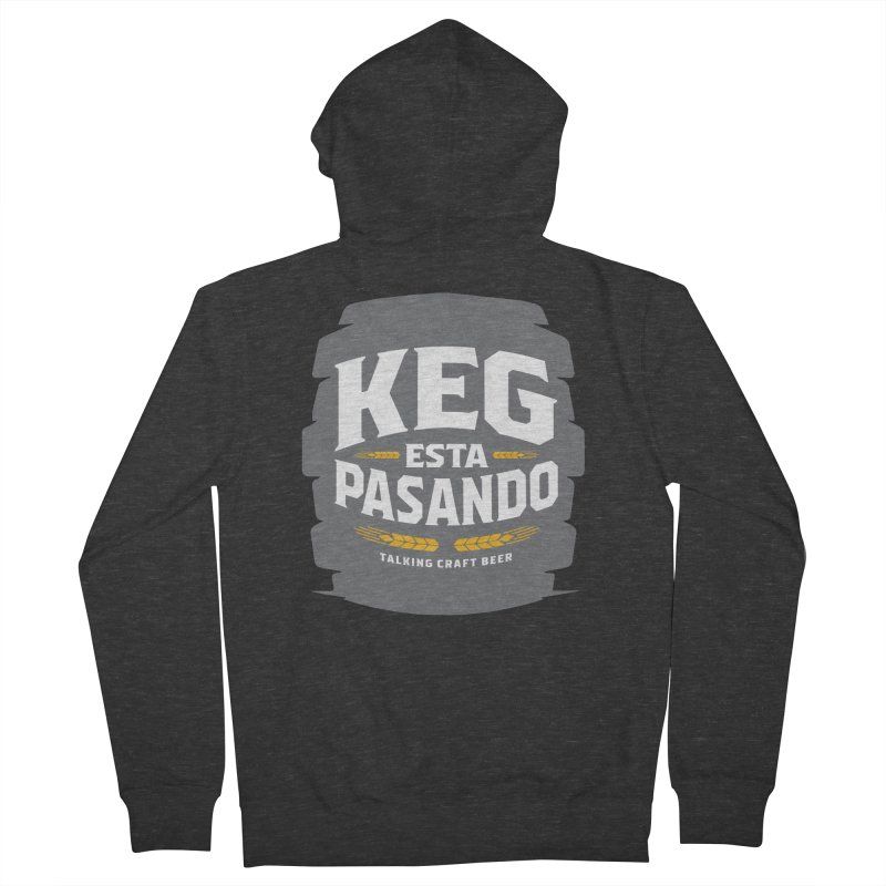 Kept Big Keg (W/O hop) Men's French Terry Zip-Up Hoody by Talking Craft Beer Shop