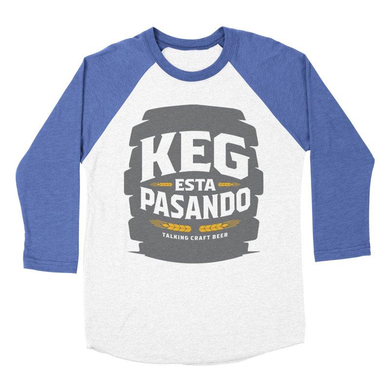 Kept Big Keg (W/O hop) Men's Baseball Triblend Longsleeve T-Shirt by Talking Craft Beer Shop