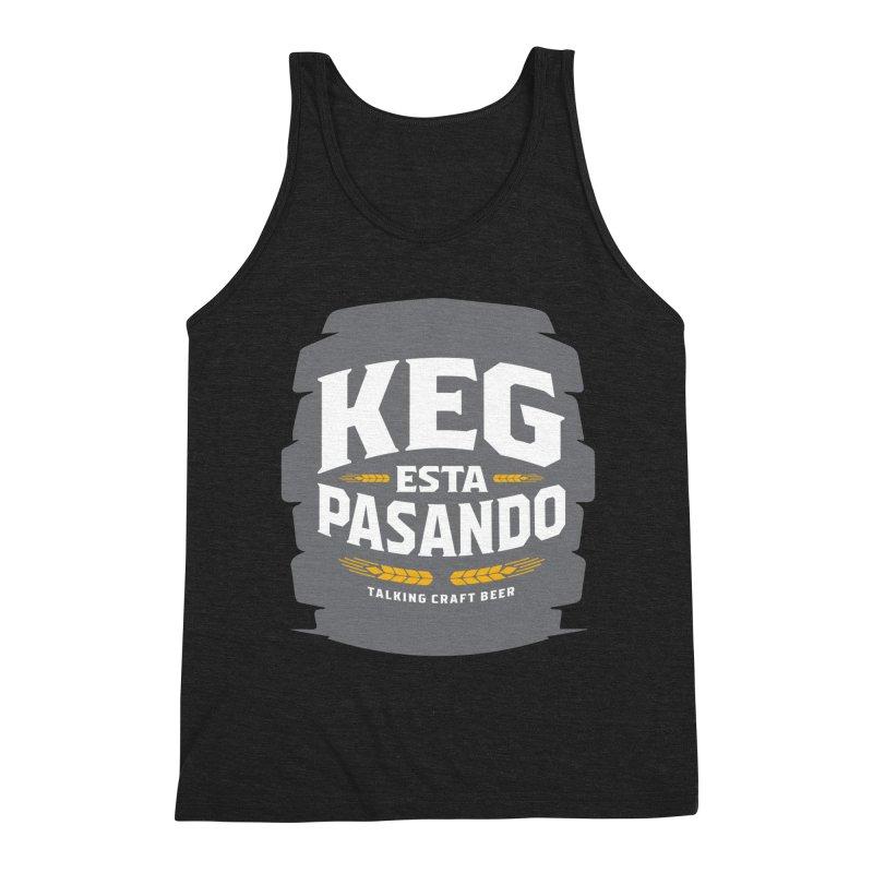 Kept Big Keg (W/O hop) Men's Triblend Tank by Talking Craft Beer Shop