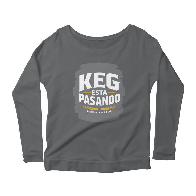 Kept Big Keg (W/O hop) Women's Scoop Neck Longsleeve T-Shirt by Talking Craft Beer Shop