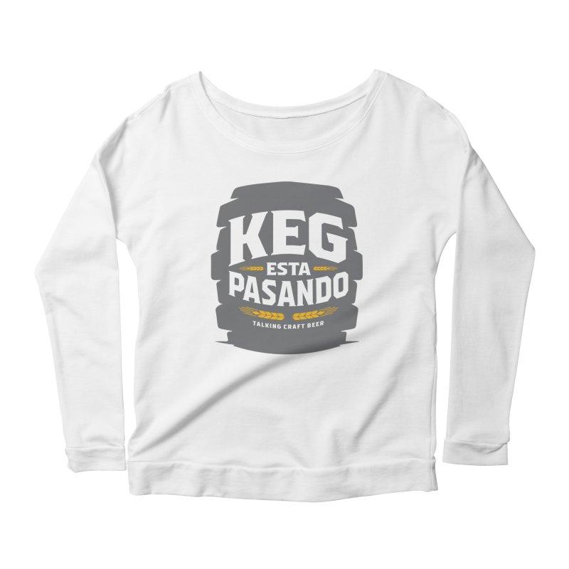 Kept Big Keg (W/O hop) Women's Scoop Neck Longsleeve T-Shirt by Talking Craft Beer Shop