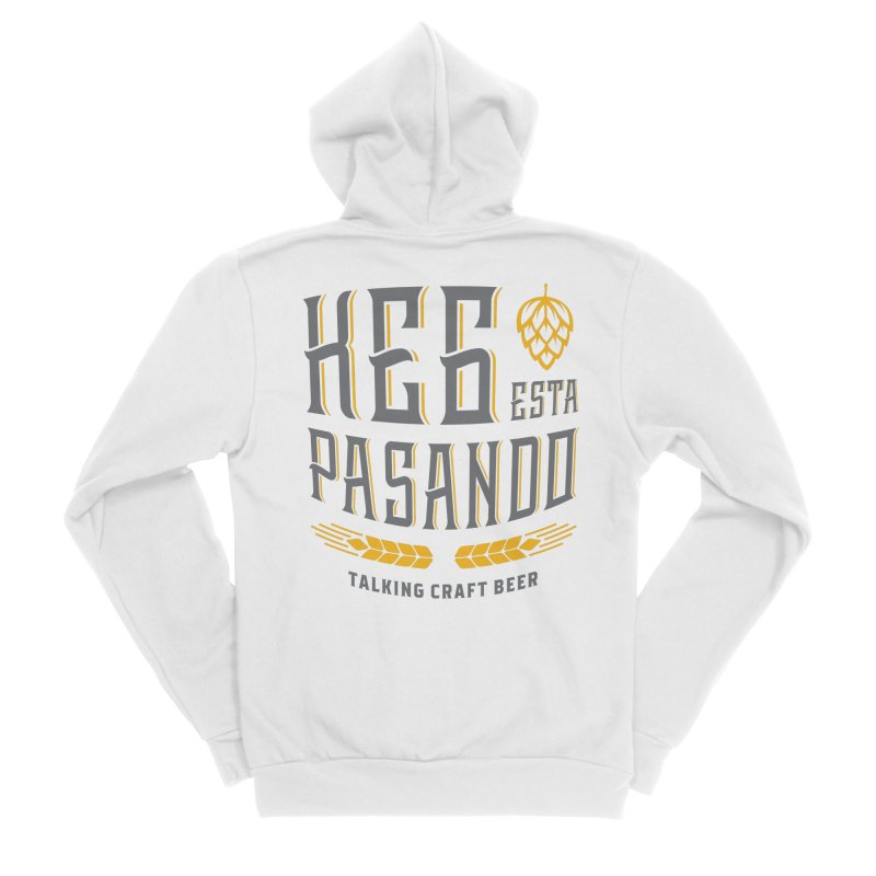 Kept Tagline (With hop) Men's Sponge Fleece Zip-Up Hoody by Talking Craft Beer Shop