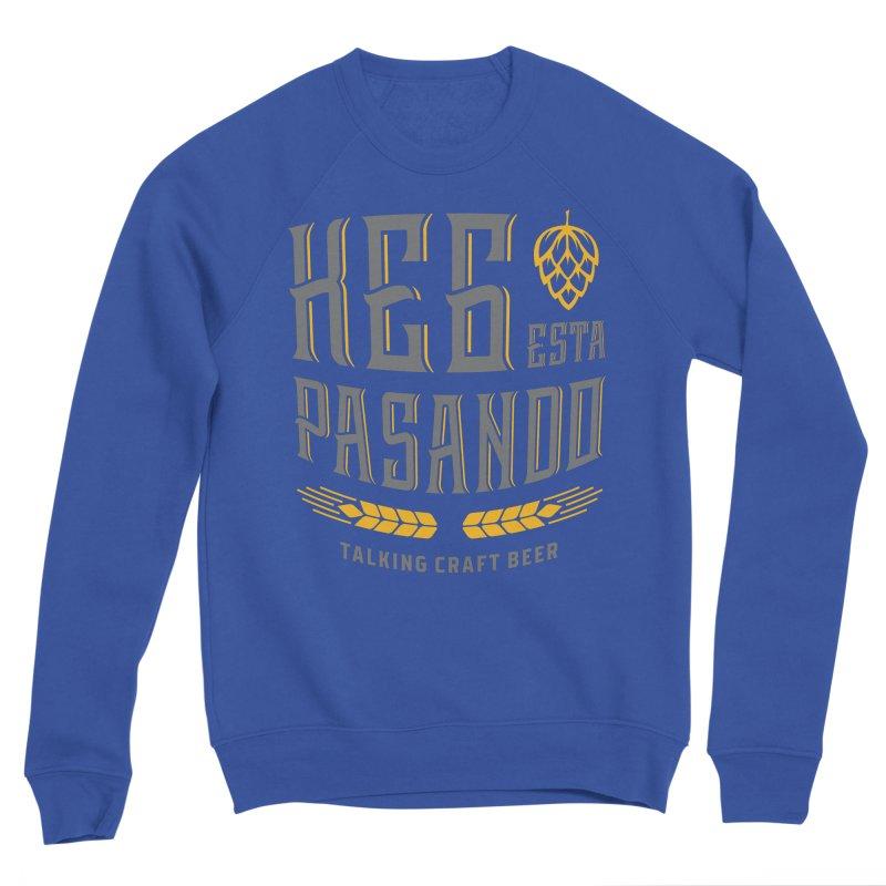 Kept Tagline (With hop) Men's Sponge Fleece Sweatshirt by Talking Craft Beer Shop