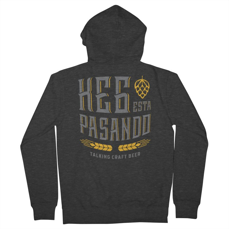 Kept Tagline (With hop) Women's French Terry Zip-Up Hoody by Talking Craft Beer Shop