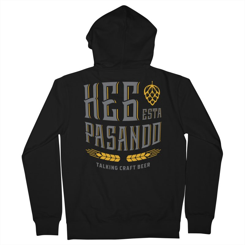 Kept Tagline (With hop) Men's French Terry Zip-Up Hoody by Talking Craft Beer Shop