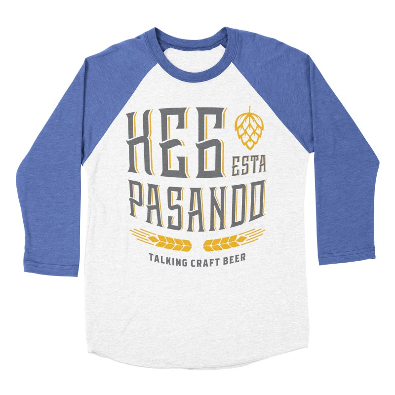 Kept Tagline (With hop) Women's Baseball Triblend Longsleeve T-Shirt by Talking Craft Beer Shop