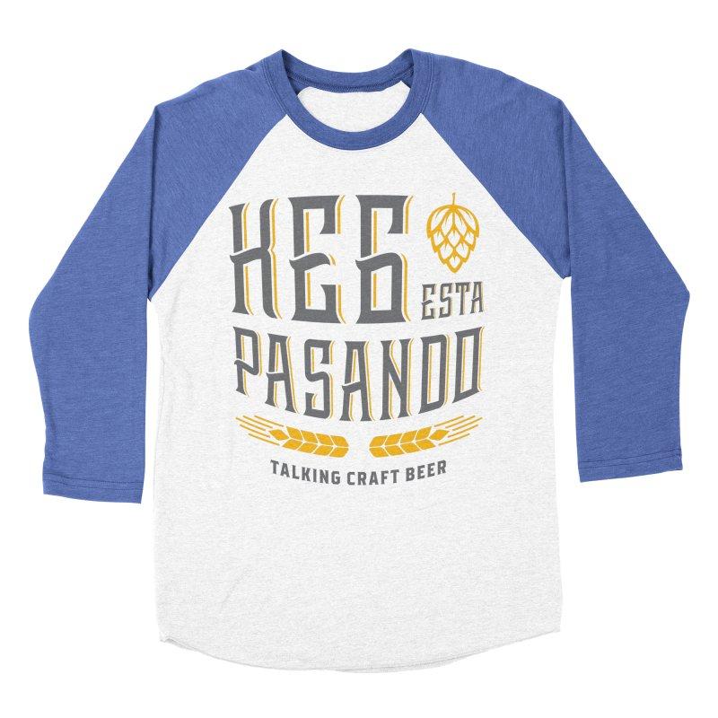Kept Tagline (With hop) Men's Baseball Triblend Longsleeve T-Shirt by Talking Craft Beer Shop