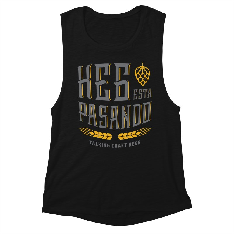 Kept Tagline (With hop) Women's Muscle Tank by Talking Craft Beer Shop