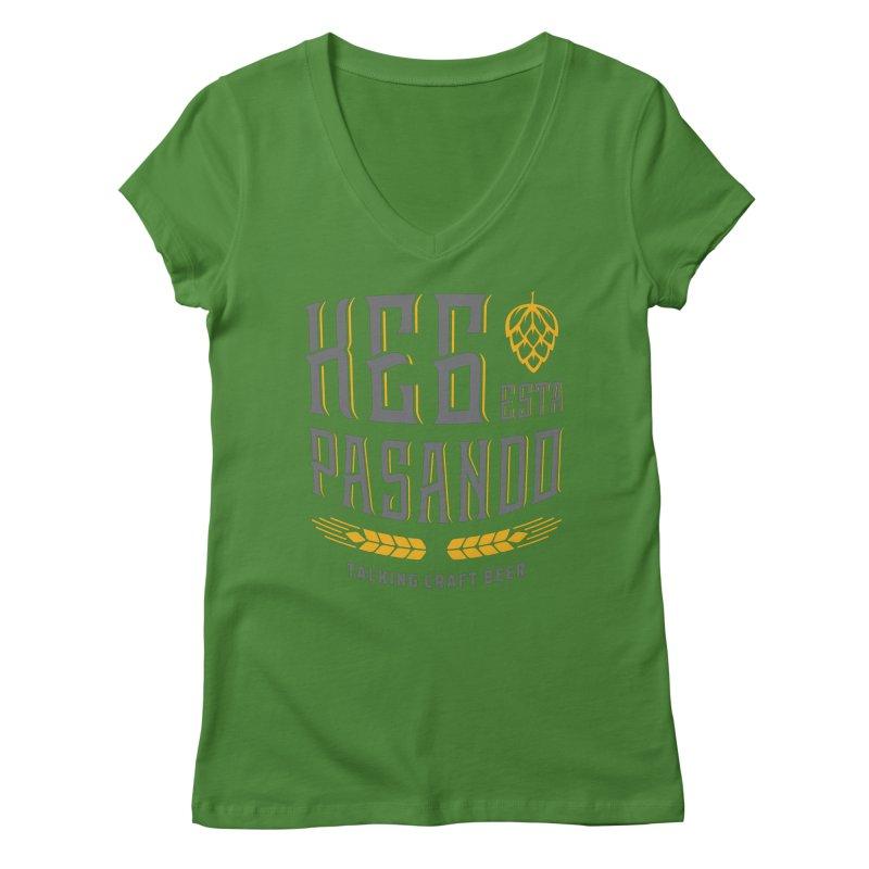 Kept Tagline (With hop) Women's Regular V-Neck by Talking Craft Beer Shop
