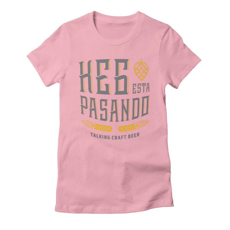 Kept Tagline (With hop) Women's Fitted T-Shirt by Talking Craft Beer Shop