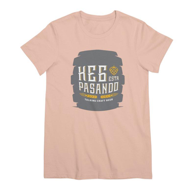 Kept Big Keg (with hop) Women's Premium T-Shirt by Talking Craft Beer Shop