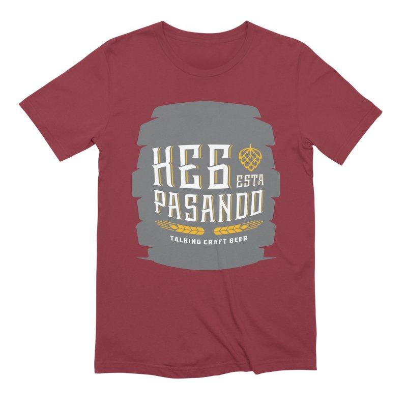 Kept Big Keg (with hop) Men's Extra Soft T-Shirt by Talking Craft Beer Shop