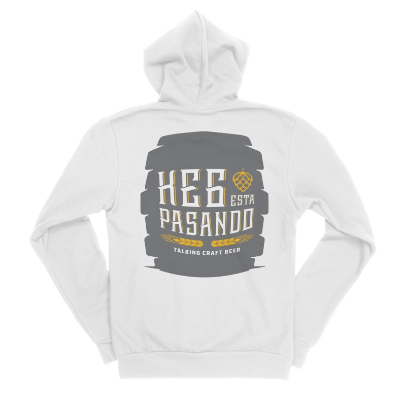 Kept Big Keg (with hop) Men's Sponge Fleece Zip-Up Hoody by Talking Craft Beer Shop