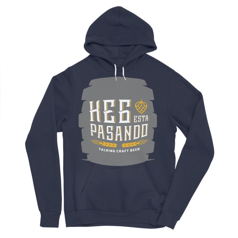 Kept Big Keg (with hop) Men's Sponge Fleece Pullover Hoody by Talking Craft Beer Shop