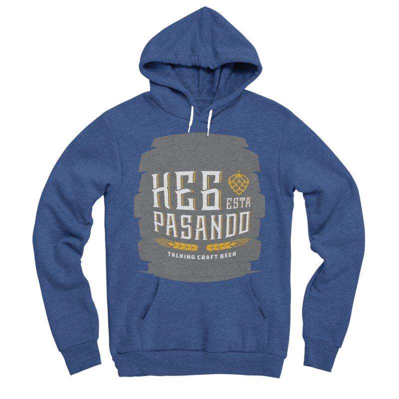 Kept Big Keg (with hop) Men's Sponge Fleece Pullover Hoody by Talking Craft Beer Shop